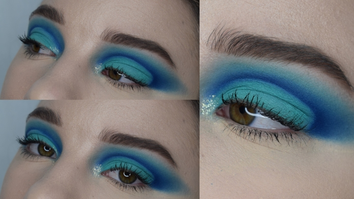 Quick Blue Oval Shaped Cut Crease Tutorial