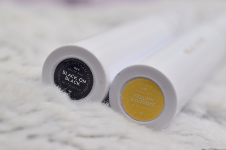 Colourpop-BFF-Mascara-review-yellow-goodbye-black-on-black-swatches (4)