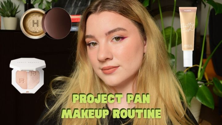 MAKEUP ROUTINE USING MY PROJECTPAN